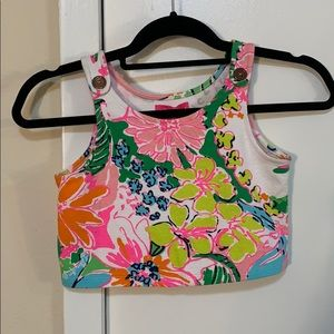 Lilly Pulitzer colorful floral crop tank